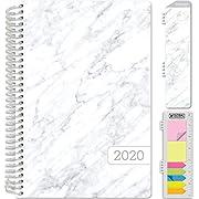 "HARDCOVER Calendar Year 2020 Planner 5.5""x8"" (Grey Marble)"