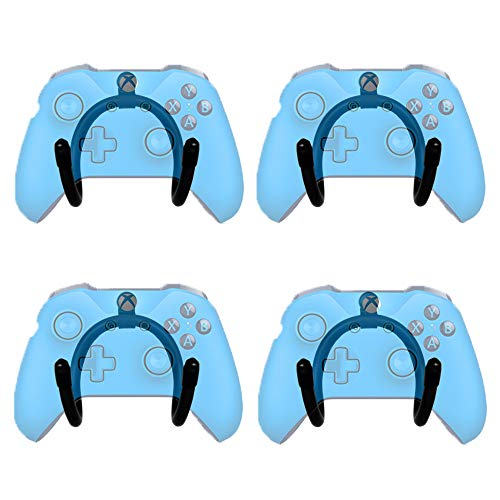 YYST Flexible Mini-Wandhalterung für Game-Controller, 4 Stück – kein Controller im Lieferumfang enthalten – Schraubenabdeckung im Lieferumfang enthalten – kein Game-Controller