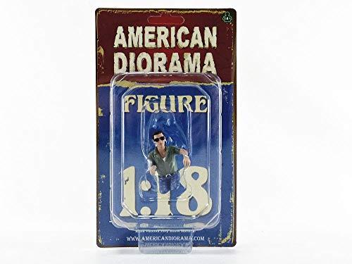 American Diorama Fahrer Figur Mann mit Sonnenbrille sitzend für 1:18 Modelle