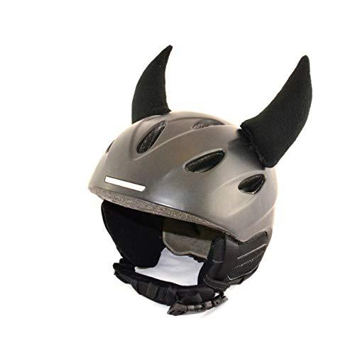Helm-Ohren Hörner für den Skihelm, Snowboardhelm, Kinder-Helm, Kinder-Skihelm oder Motorradhelm - verwandelt den Helm in EIN EINZELSTÜCK - der HINGUCKER - für Kinder und Erwachsene HELMDEKO (Schwarz)