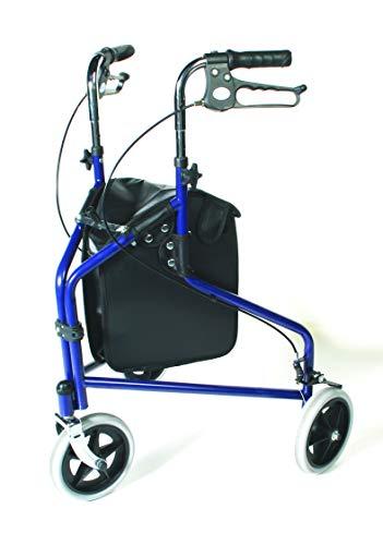 Performance Health grote tas voor rollator, met 3 wielen, loophulp, geschikt voor de meeste inline skates
