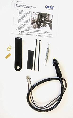 Umrüstsatz auf wartungsfreien Bremslichtschalter schwarz inkl. Kleinteile für Simson S50 S51 S70