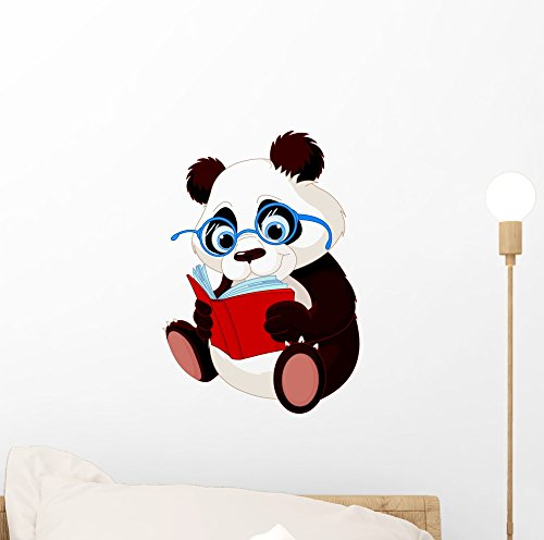 Wallmonkeys Cute Panda Education Wall Decal Peel and Stick Graphic (12 in H x 8 in W) WM241571