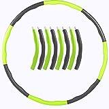 BHAHFL Hula Hoop, Slim Hoop para Adultos y niños para Bajar de Peso y masajes, 8 Piezas Hula-Hoop Desmontables para Entrenamiento físico y contornos de músculos Abdominales en el