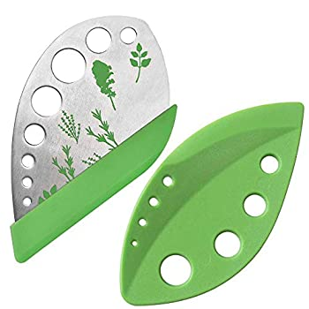 2 Pack Herb Stripper Tool 9 Holes Stainless Steel kale Leaf Stripping Zip Tools Curved Edge Can be Used as a Kitchen Gadgets