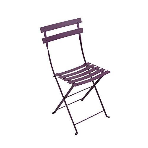 Bistro by Fermob JMJ1091033 - Juego de 2 sillas Plegables de Acero Lacado Bistro – Color Berenjena