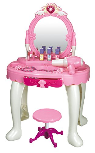 brigamo 531–Tocador de juguete con espejo y secador que funciona