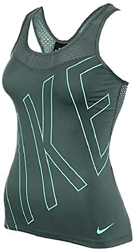 Nike W Np Hprcl Tank Explode Logo Camiseta de Tirantes, Mujer, Verde (Hasta/Green...