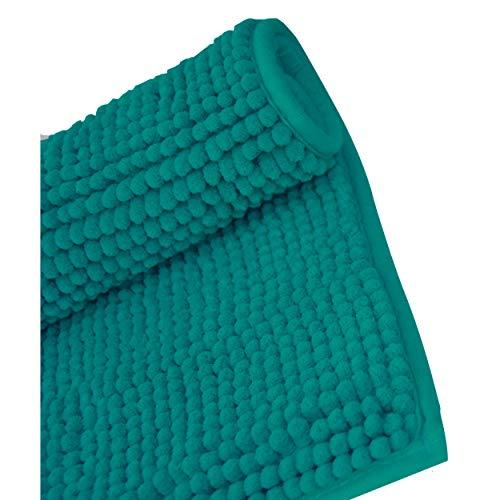 Casa et Mas Badmat, antislip, turquoise, zacht, absorberend, 80 x 50 cm