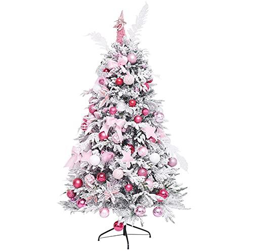SAFGH Árbol de Navidad Artificial Decorativo con Adornos y luz LED, árbol...