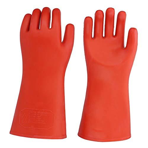 Elektro-Handschuhe, isoliert durch hohe Spannung, 20 kV Handschuhe, isoliert den braunen roten Handschuh für elektrischen Strom, Auto, mechanische Wartung, chemische Installation