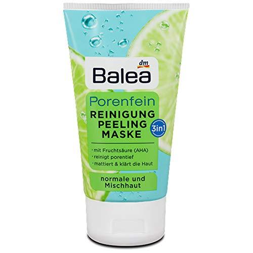 Balea 3in1 Porenfein Reinigung Peeling Maske, 5er Pack (5 x 150 g)