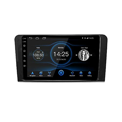 LEXXSON Android 10.1 Radio de Coche para Mercedes ML GL W164 2005-2012   Radio Am FM RDS de 9 Pulgadas con navegación GPS WiFi Bluetooth Reproductor USB Control del Volante Enlace de Espejo 2G + 16G