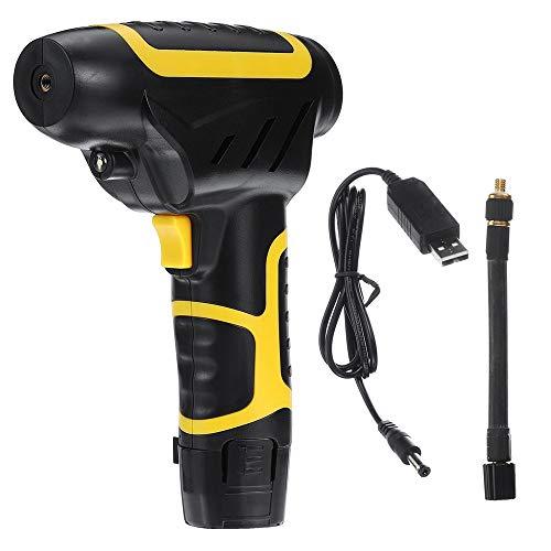 Aszhdfihas Gonfiatore per Pneumatici per Auto Display LCD 120W Cordless Handheld Gonfiabile della Pompa di Aria dell'automobile gonfiatore (Colore : Nero, Dimensione : Taglia Unica)