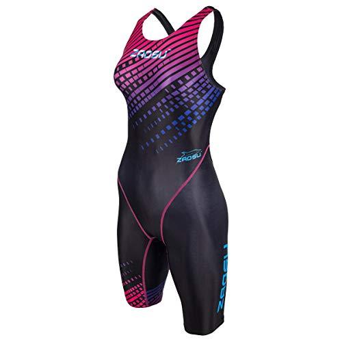 ZAOSU Wettkampf Schwimmanzug Z-Purple Rain | Langer Badeanzug für Damen und Mädchen mit Fina-Zulassung, Größe:176/36