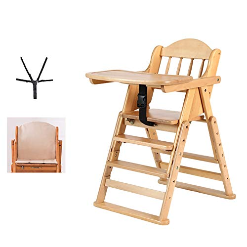 Sale!! High Chair Highchairs MYL Folding Baby with Cushion, Beech Wood, Perfect Feeding Dinning Chai...