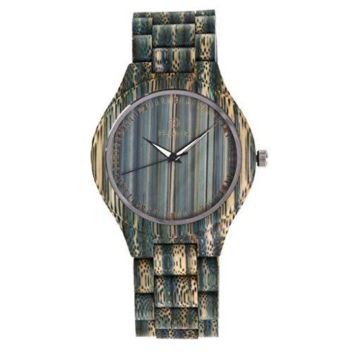 Orologio da uomo Zxy Reloj de Madera, explosión de sándalo Rojo Natural Puro Original, Cuarzo ecológico y Saludable, for Parejas DYF (Color : Female)