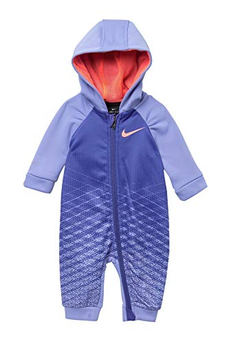 Nike Baby Girls Just Do It Therma Hooded Coverall (Rush Violet(06E170-P4E)/Pink, 3 Months)