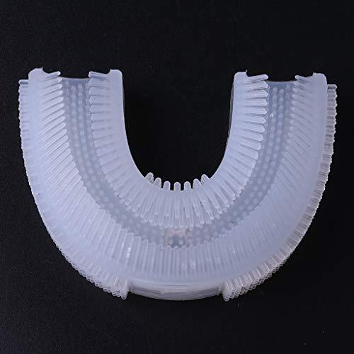 ruiruiNIE Cepillo de Dientes eléctrico en Forma de U para Adultos automático Sonic Whitening Impermeable Silicona Brackets Ultrasonic Tooth Beauty Instrument