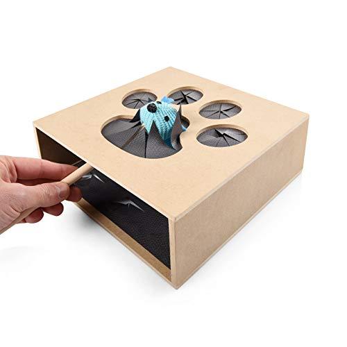 CanadianCat Company ® | Fang die Maus - duales Geschicklichkeitspiel für Katzen/Spielbox Katzenspielzeug