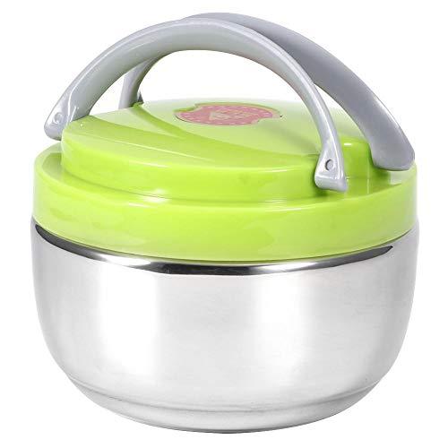 Doppellagige isolierte Lunchbox aus Edelstahl Tragbare thermische Bento-Box Anti-Verbrühungs-Lebensmittelbehälter Auslaufsichere thermische Lunchbox für das Schulpicknickkrankenhaus(1200ml)