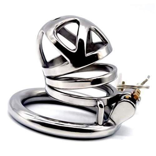 DaDou Chastity Lock RVS Ronde Ring Metaal RVS Behandeling Emotionele Gezondheid Veiligheid T-Shirt, Zonnebril DaDou repareren 5cm