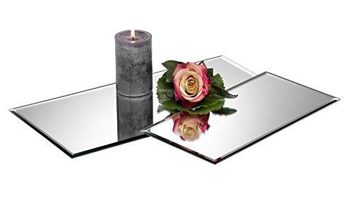 Sandra Rich Tischspiegel, Spiegelplatte, Deko Spiegel 40x20cm rechteckig Glas