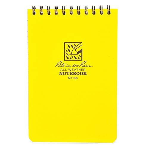 Rite in the Rain Universal Notebook - Set de Mantenimiento para Acampada, Color Blanco, Talla 4 x 6 Inch