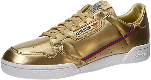 adidas Herren CONTINENTAL 80 Leichtathletik-Schuh, Gold Metallic/ Gold Metallic/ Crystal White, 44 EU