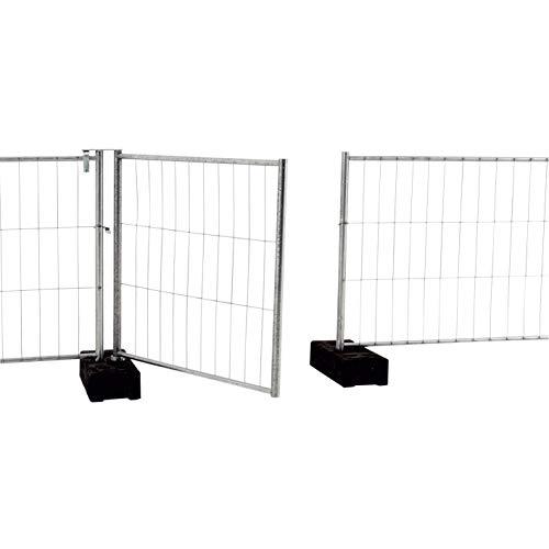 Lauftor Für Bauzaun - Höhe 2m, Länge 1m, Eingang & Ausgang Für Bauzaun-Konstruktionen, vorverzinkt