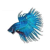 ベータ魚閉塞スクラッチカーステッカービニールアニメの装飾カスタム印刷車DECAL13CM x 12.6cm (Color Name : Style-A, Size : 44cm)