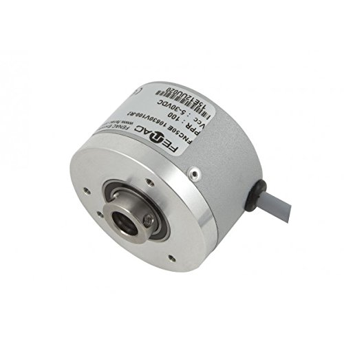 Fenac FNC 50B 8630V3600-R2 Incremental Encoder 50mm Body Diameter 2m Cable 3600PPR 8mm Solid Shaft 5-30V in//Out Clamping Flange 6 Channel