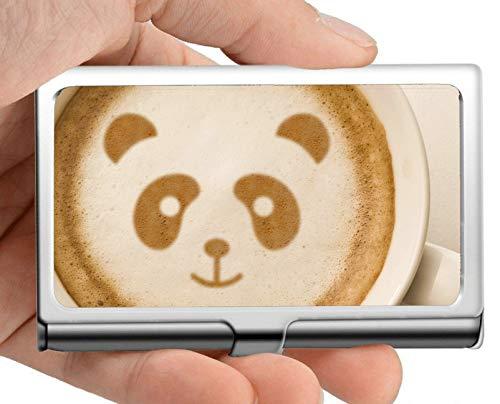 Business Name Card Holder Wallet, Akt Animal Panda Visitenkartenetui (Edelstahl)