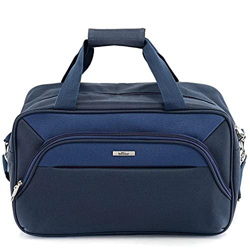 BONTOUR AIR Handgepäck Kabinentasche Ryanair Reisegepäck 40x20x25cm, Sporttasche, Wochenendtasche (Blau)