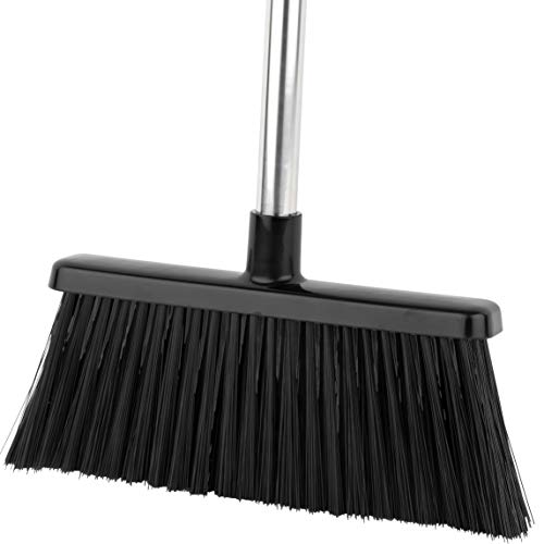 Broom Indoor/Outdoor - Strongest 30% Heavier Duty - Angle Broom with Extendable Broomstick for Easy Sweeping - Easy Assembly Great Use for Home Kitchen Room Office Lobby Floor Pet Hair Sweeping Etc.
