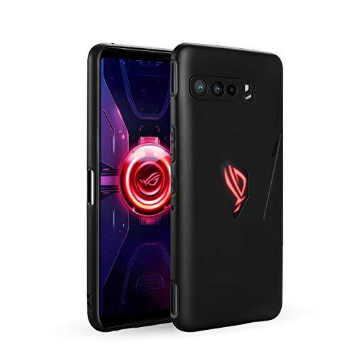 NEWZEROL für Asus Rog Phone 3 Hülle [Slim-Fit] [Matte] [Stoßdämpfung] Schutzhülle Matte Handyhülle für Asus Rog Phone 3 [Lebenslanger Ersatzservice] -Schwarz