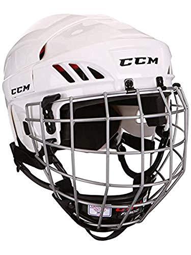 CCM 50 Hockey Casco Combo con Jaula - Negro HT50C - Blanco, L