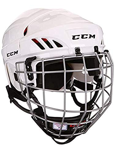 CCM 50 Helm Combo Senior, Größe:M, Farbe:weiss