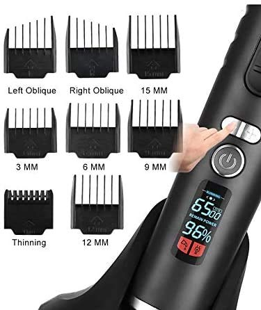 Ceenwes Hair Clippers Heavy Duty Clippers for Men Rechargeable Hair Trimmer Cordless Clippers Hair Cutting Kit with Charging Dock, 8 Guide Combs (Black)