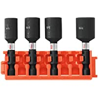 Bosch 4-Piece 1-7/8 Inch Nutsetters with Clip for Custom Case System
