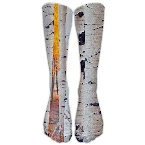 YuanHu Colorado Aspen Birch Natur Herbst Sportlich Schlauchstrümpfe Damen Herren Klassiker Kniestrümpfe Sport Lange Socke