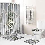 Antideslizante Y Lavable Cuarto De Baño Dormitorio De Cuatro Piezas Alfombra Bebé Crawling Towel Toalla De Playa-Xrz02_45 * 75 + 180 * 180 Cm