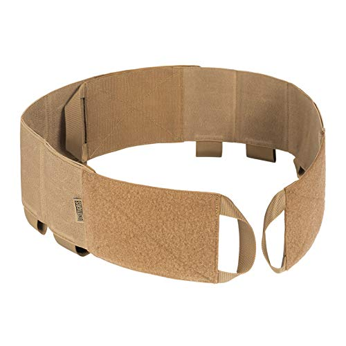 OneTigris Elastic Vest Cummerbund with Handy Grab Handles Low Profile Tactical Hook-and-Loop Cummerbund for AR Magazines Medical Supplies Radios (Coyote Brown)