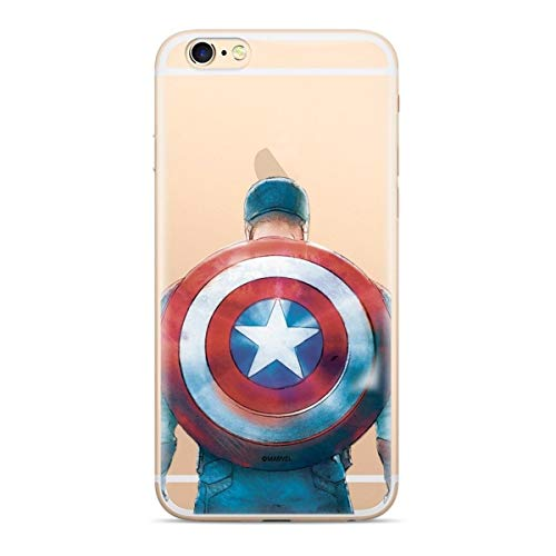 Finoo Custodia Compatibile per iPhone 5/5S/SE – Marvel Cover con motivo e protezione ottimale TPU Silicone Custodia Case Cover – Captain America