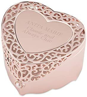 Things Remembered Personalized Rose Gold Heart Cut Out Jewelry Box with Engraving Included product image