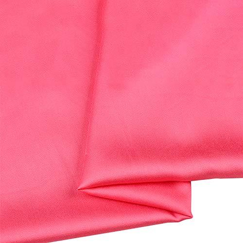 MUYUNXI Tela De Raso Forro De Tela para Vestidos De Novias Fundas Artesanas Vestidos Blusas Ropa Interior 155 Cm De Ancho Vendido por Metro(Color:Melon Rojo)