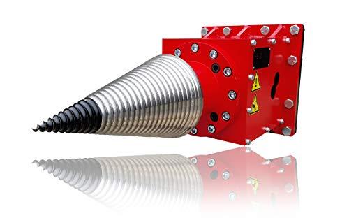 ALLTECH Hydraulischer Kegelspalter HS800/230 mit Anbau an Bagger, Lader oder Gabelstapler