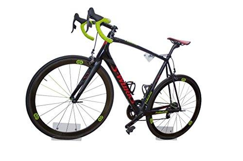 trelixx Fahrrad Wandhalter für Rennrad Plexiglas®/ Acrylglas (gelasert), platzsparende Fahrradaufbewahrung, Design Radhalter Wandmontage