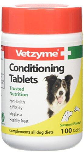 Vetzyme Conditioning Tabletten für Hunde (Pot Size: 100 Tabletten), einen Artikel