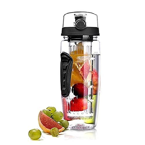ZZDH Water Bottle 1000ml Water Fruit Bottle Bpa Free Plastic Sport Fruit...